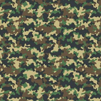 Chatham Glyn Crafty Cottons - Camouflage Green (1/2 metre)