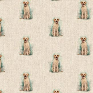 Chatham Glyn Linen Look Fabric - Labrador All-Over (1.5 metre)