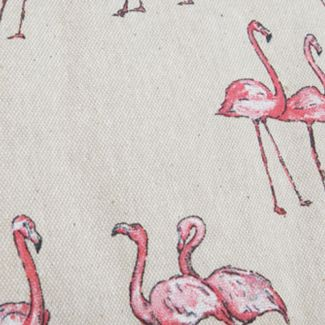 Chatham Glyn Linen Mix Fabric - Flamingos