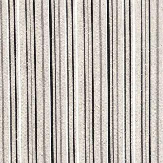 Chatham Glyn Linen Sparkle - Stripe Mono (1/2 mtr)