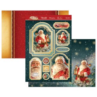Here Comes Santa Claus Luxury Topper Set