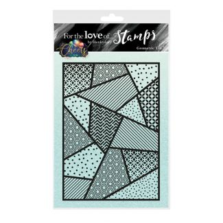 For the Love of Stamps A6 Stamp Set - Geometric Tile
