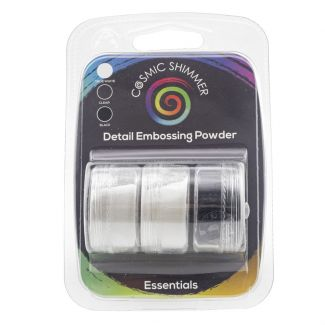 Cosmic Shimmer Detail Embossing Powder Trio - Essentials