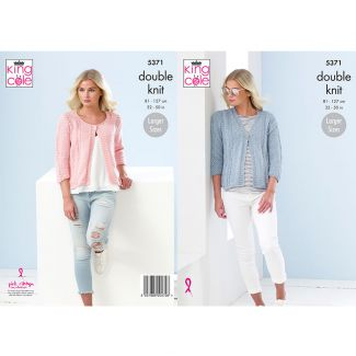 Ladies Cardigans knitted in Cotton Top DK