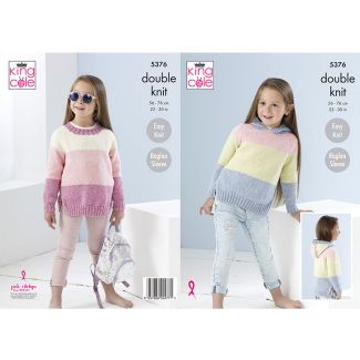 Children's sweater knitted in Cotton Top DK