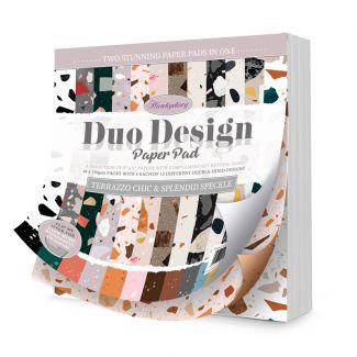 Duo Design Paper Pad - Terrazzo Chic &  Splendid Speckle
