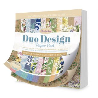 Duo Design Paper Pad - Cottage Garden & Beautiful Burlap