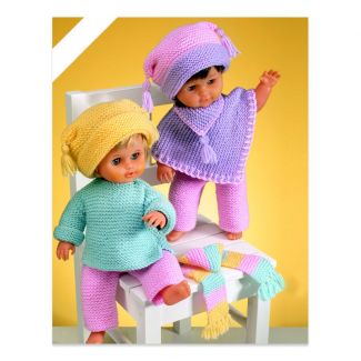 Sirdar Dolls Clothes Pattern - Poncho etc