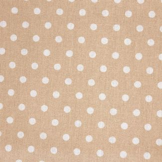 Dotty Cotton Fabric - Beige (half metre)