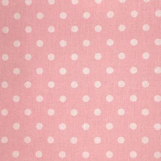 Dotty Cotton Fabric - Candy Pink (half metre)