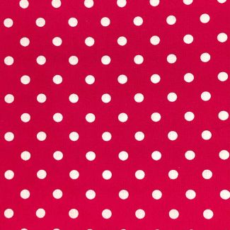 Dotty Cotton Fabric - Cerise (half metre)