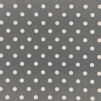 Dotty Cotton Fabric - Dark Grey (half metre)