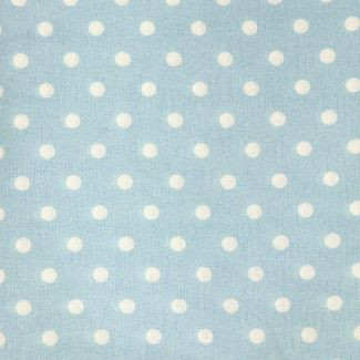 Dotty Cotton Fabric - Light Blue (half metre)