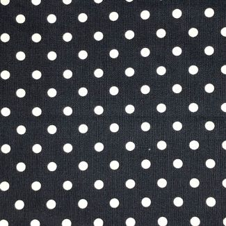 Dotty Cotton Fabric - Navy (half metre)