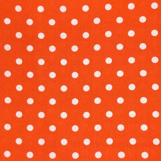 Dotty Cotton Fabric - Orange (half metrer)