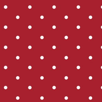 Dotty Cotton Fabric - Red (half metre)