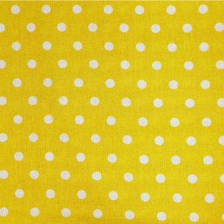 Dotty Cotton Fabric - Sunshine (half metre)