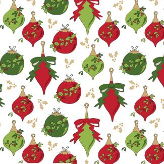 Debbie Shore's Deck the Halls Festive Fabric - Baubles