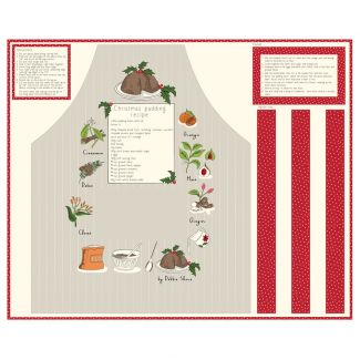 Christmas Pudding Apron Panel by Debbie Shore