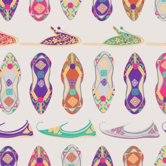 Debbie Shore's New Delhi Fabric - Khusa Shoes (fat quarter)