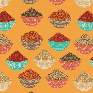 Debbie Shore's New Delhi Fabric - Indian Spices (fat quarter)