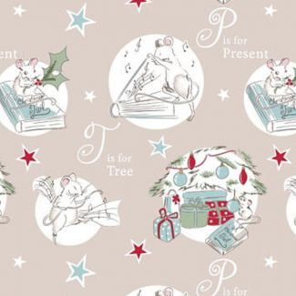 Debbie Shore - A Christmas Tail - T is for Tree - Fat Quarter
