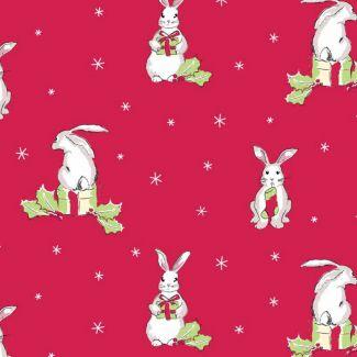 Debbie Shore - Christmas Critters Bunny Rabbit (fat quarter)