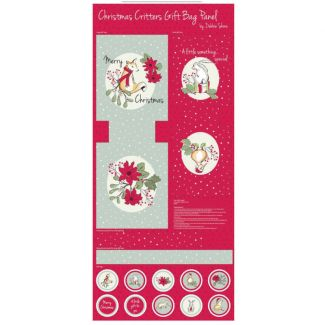 Debbie Shore - Christmas Critters Gift Bag Panel
