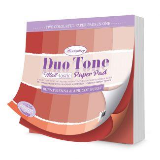 Duo Tone Paper Pad - Matt-tastic - Burnt Sienna & Apricot Burst