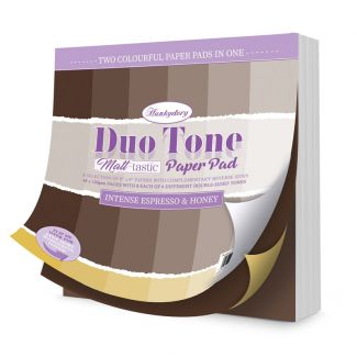 Duo Tone Paper Pad - Matt-tastic - Intense Espresso & Honey