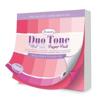 Duo Tone Paper Pad - Petal Pink & Fuchsia Fizz
