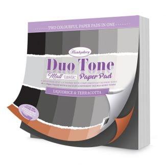 Duo Tone Paper Pad - Liquorice & Terracotta