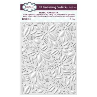 3D Embossing Folder by Sue Wilson - Retro Poinsettia