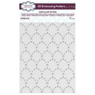 3D Embossing Folder by Sue Wilson - Circular Stars