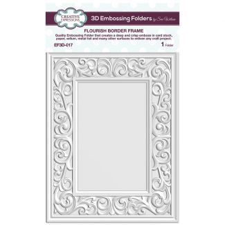 3D Embossing Folder by Sue Wilson - Flourish Border Frame