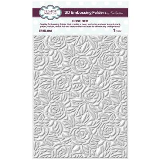 3D Embossing Folder by Sue Wilson - Rose Bed