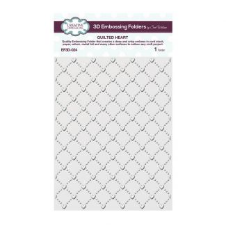 Quilted Heart 3D 5 3/4 x 7 1/2 3D Embossing Folder