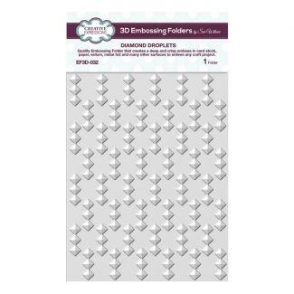Diamond Droplets 5 3/4 x 7 1/2 3D Embossing Folder