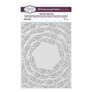 Winter Wreath 5 3/4 x 7 1/2 3D Embossing Folder