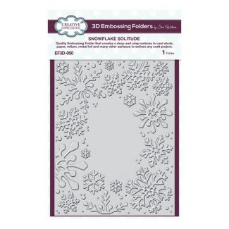 """Creative Expressions Snowflake Solitude 7.5"""" x 5.75"""" 3D Embossing Folder"""
