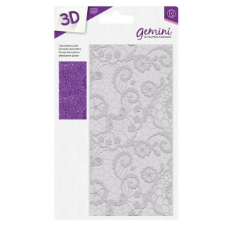 "3D Embossing Folder 5.75"" x 2.75"" - Decorative Lace"