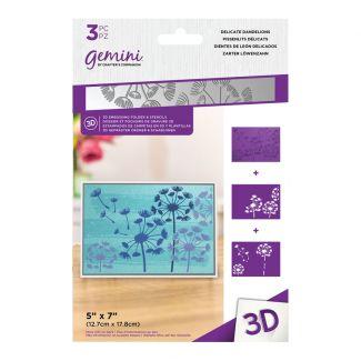 3D Embossing Folder & Stencil - Delicate Dandelions