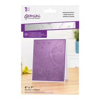 """7"""" x 5"""" 3D Embossing Folder - Grande Butterfly"""