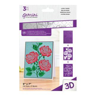 3D Embossing Folder & Stencil - Lovely Roses