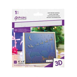 6 x 6 3D Embossing Folder - Night Before Christmas