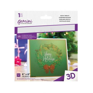 6 x 6 3D Embossing Folder - Rustic Wreath