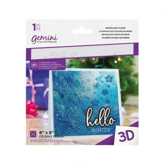 6 x 6 3D Embossing Folder - Snowflake Flurry