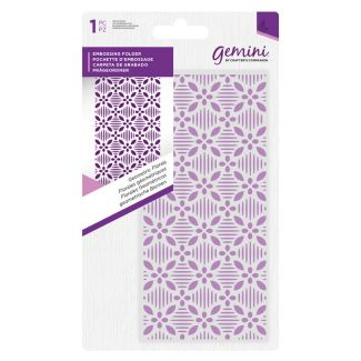 "Embossing Folder 5.75"" x 2.75"" - Geometric Florals"