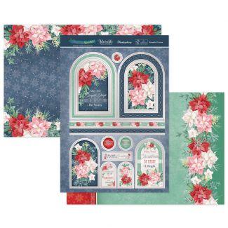 Poinsettia Promise Luxury Topper Set