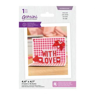Gemini Die - Expressions - Shaped Pop Out - With Love